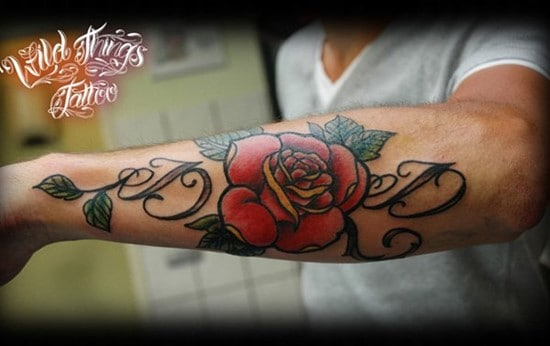 10Lettering-with-rose-tattoo