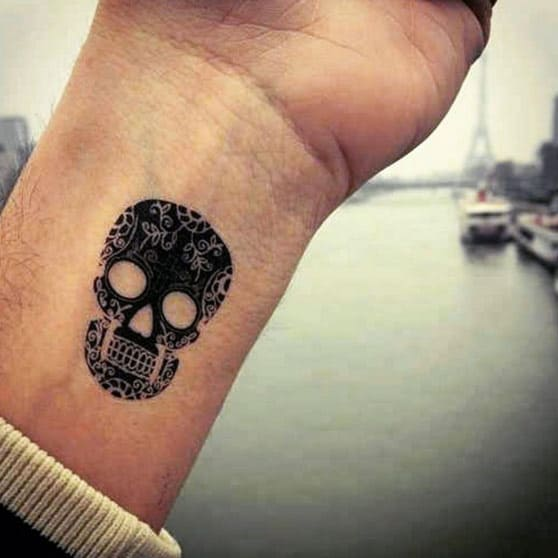 166 Small Wrist Tattoo Ideas An Ultimate Guide October 2020,Matte Dark Red Nail Designs
