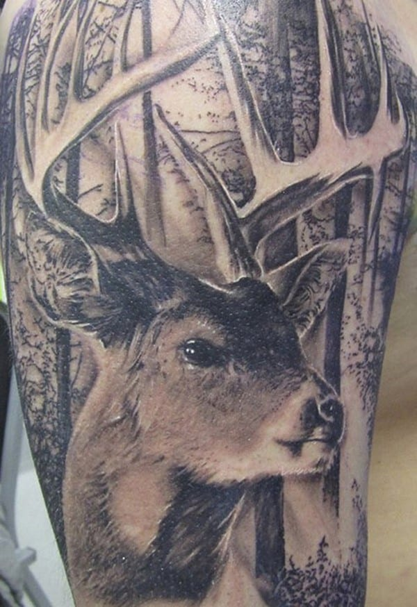 11-3D-deer-tattoo