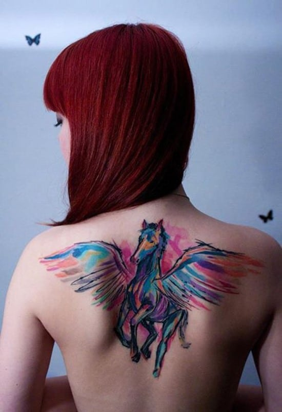 12-Horse-watercolor-tattoo