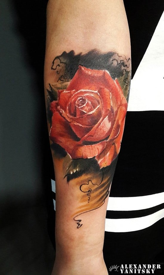 12-Rose-Forearm-Tattoo