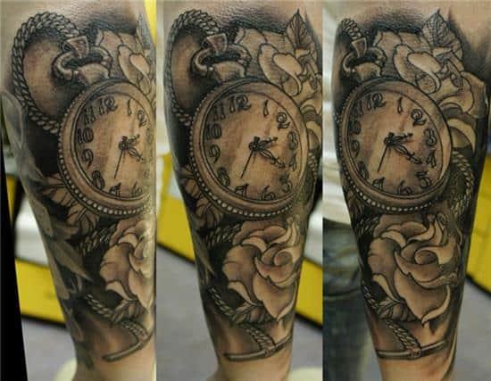 halfsleeve watch tattoo