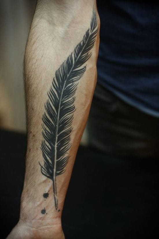 15-Big-Black-Feather-Tattoo