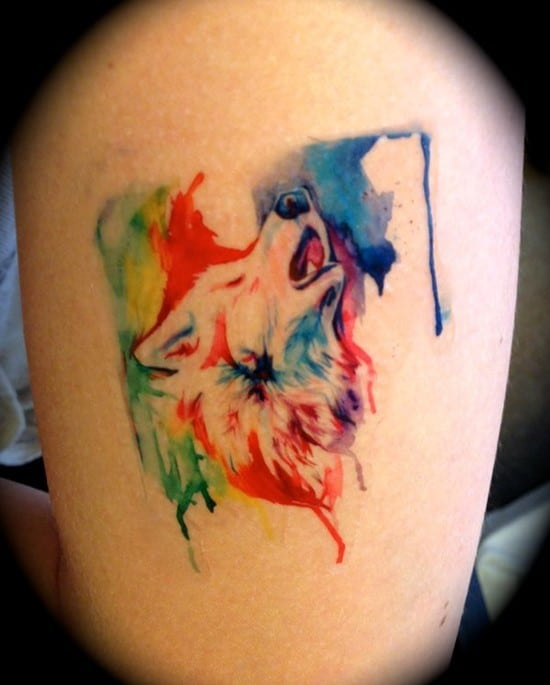 15-Rainbow-Wolf-Temporary-Tattoo