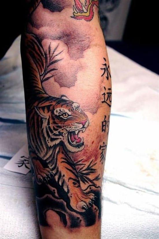 chinese tiger and symbols