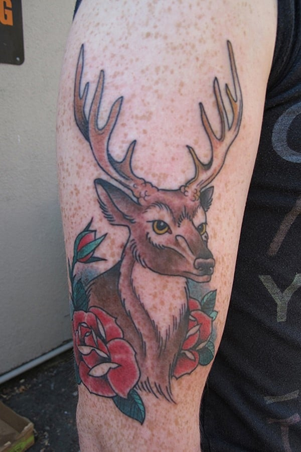 16-Deer-and-Rose-Tattoo