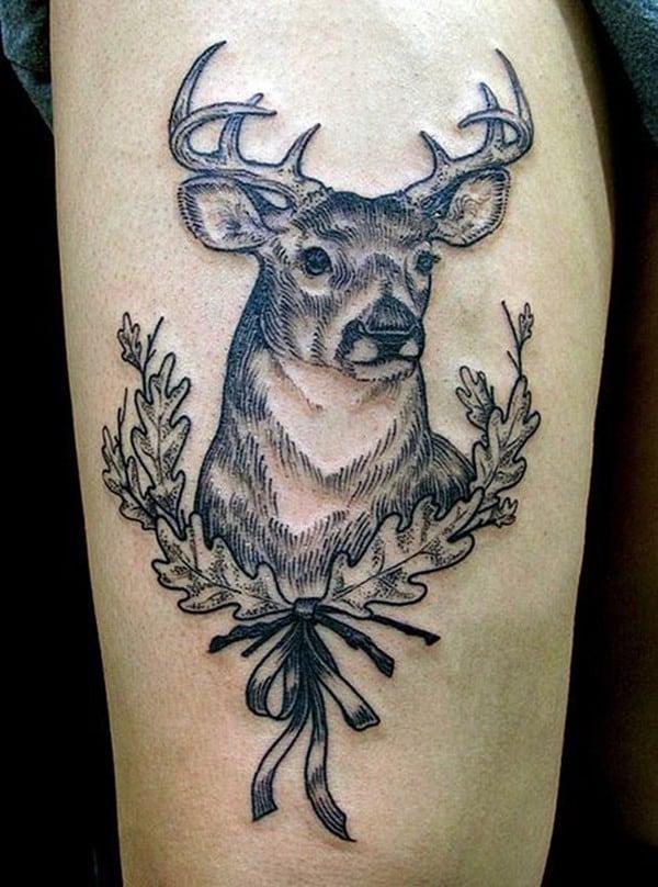 19-Illustration-style-Deer-Tattoo