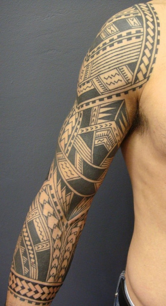 19-Polynesian-arm-tattoo