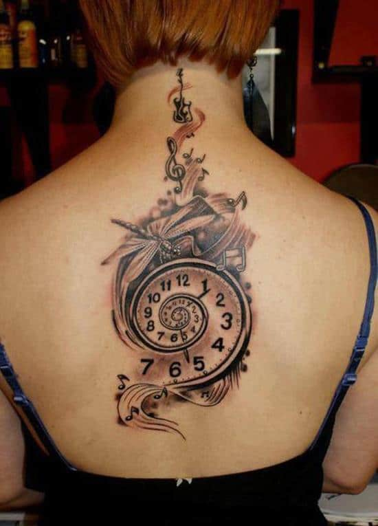 spiral watch tattoo