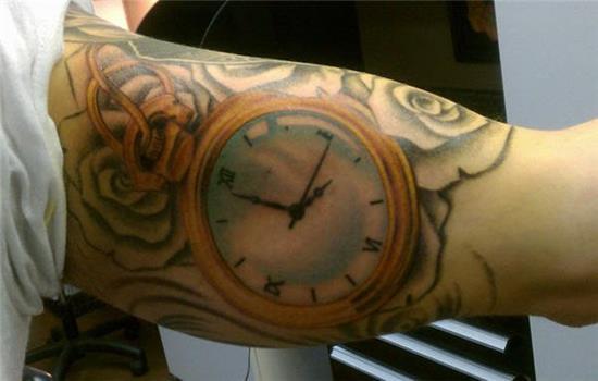 rose pocket watch bicep