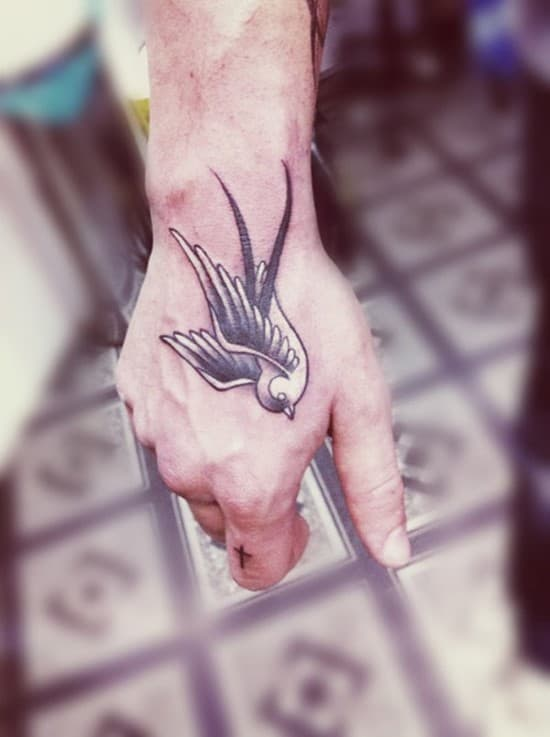 Swallow Tattoo Hand 107