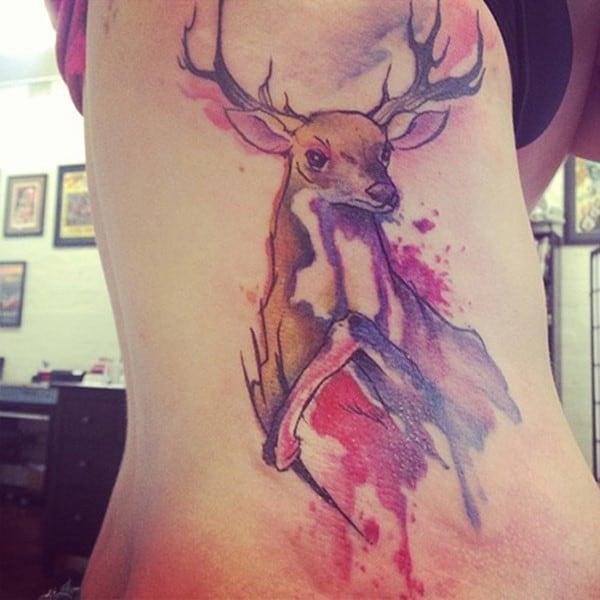 21-Deer-Tattoo-on-Side