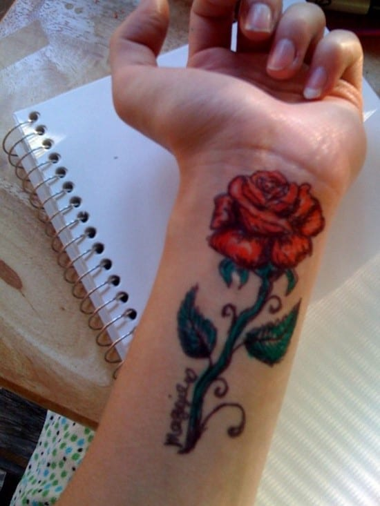 23-Sharpie-Rose-Tattoo