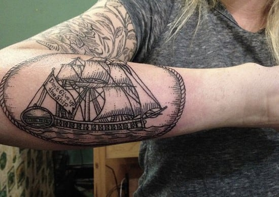 24-Boat-Forearm-Tattoo