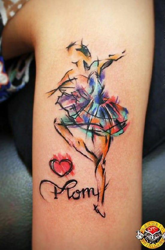 24-Luv-U-Mom-watercolor-tattoo
