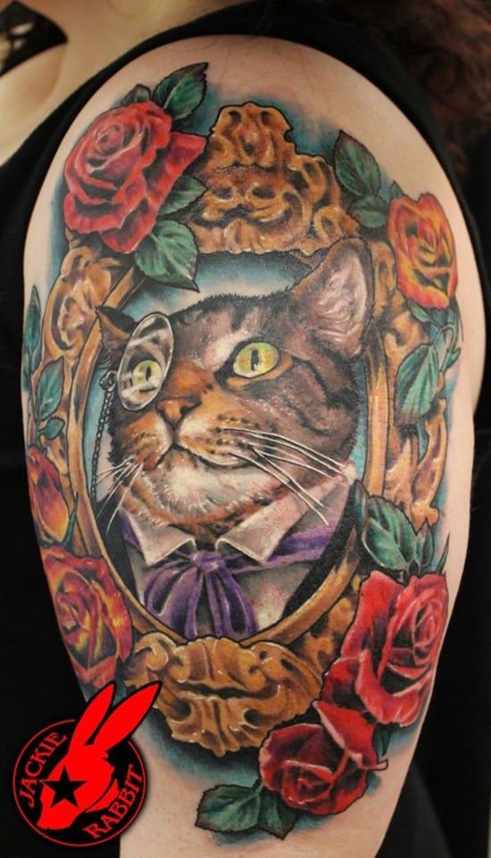 24-Vintage-Cat-Portrait-Tattoo-by-Jackie-Rabbit