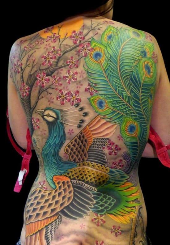 25-Colorfull-Peacock-Back-Tattoo