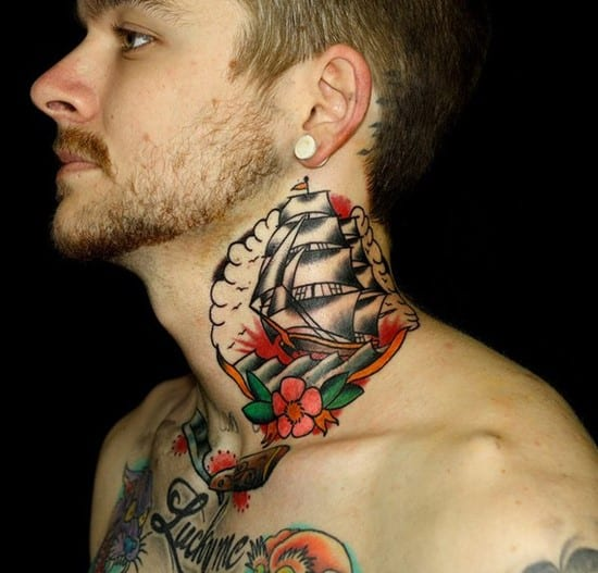25-Ship-tattoo-on-neck-myke-chambers