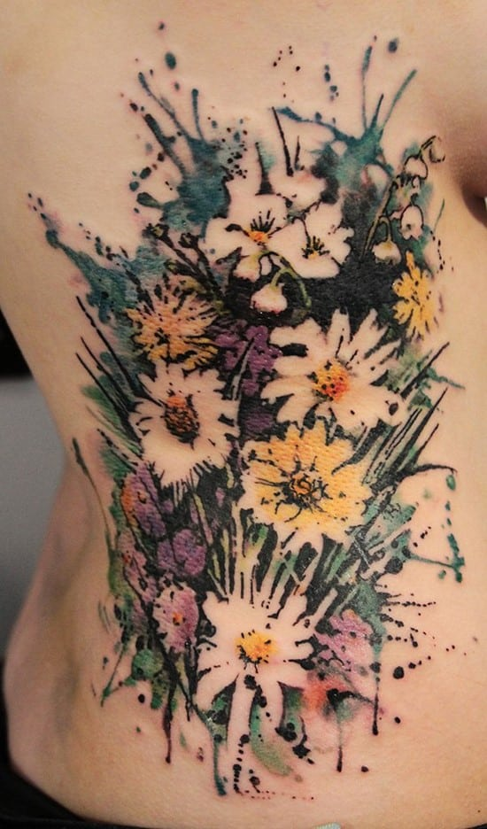 27-Flower-watercolor-tattoo