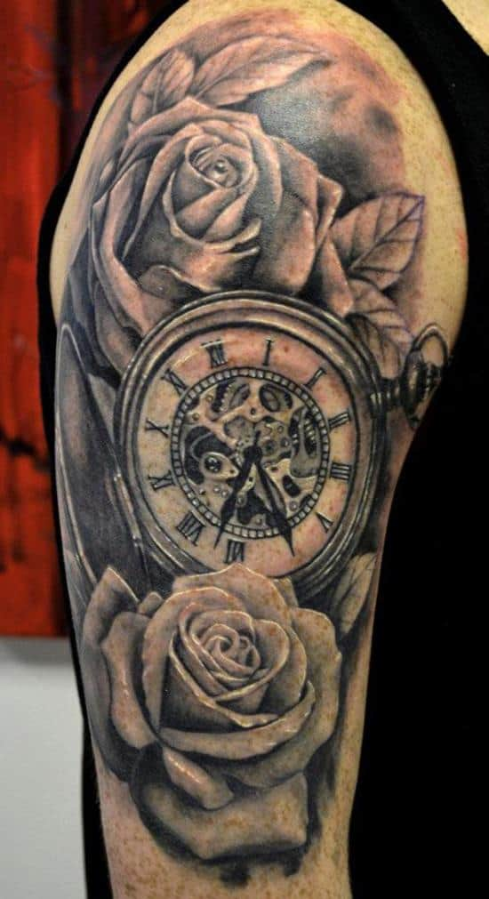 200 popular pocket watch tattoo meanings 2016 part 5. Black Bedroom Furniture Sets. Home Design Ideas