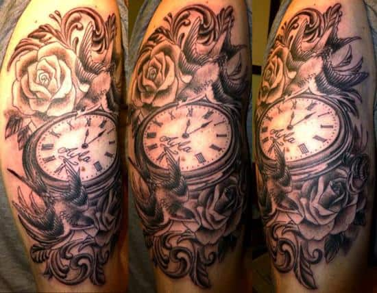 32-Swallows-and-pocket-watch-tattoo