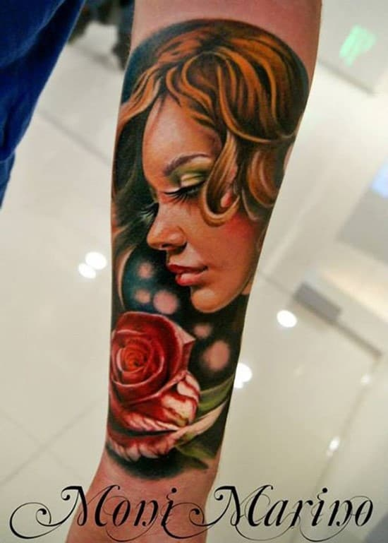33-3D-Portrait-Forearm-Tattoo