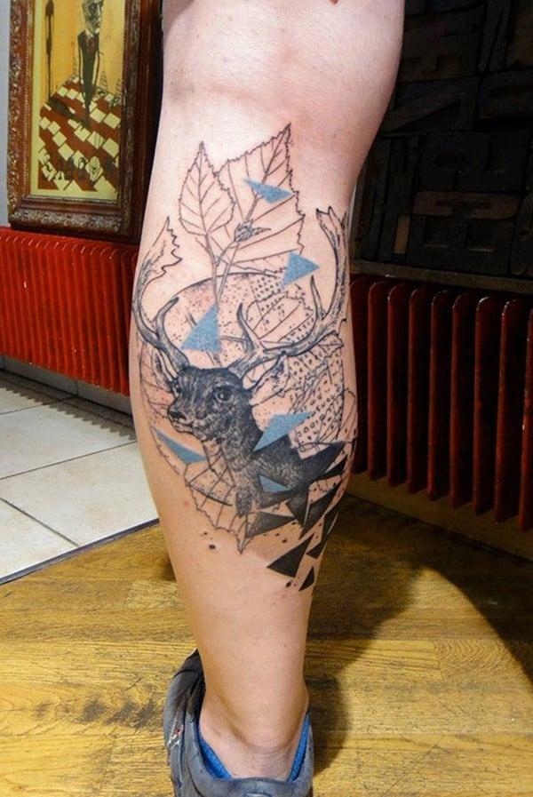 34-Deer-Leg-Tattoo-for-Men