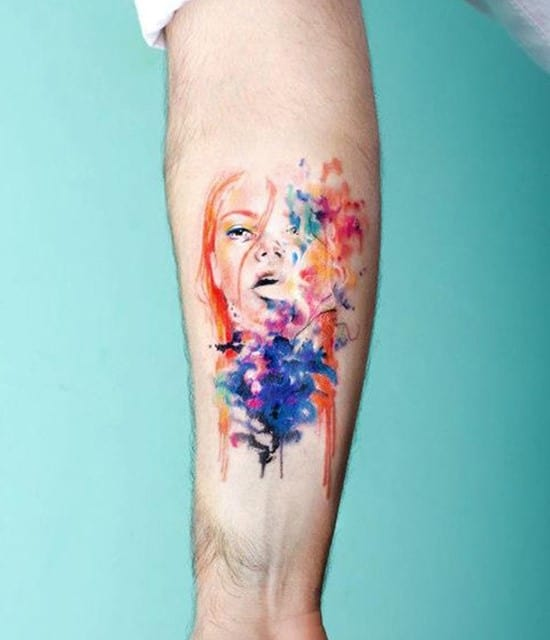 35-Portrait-watercolor-tattoo