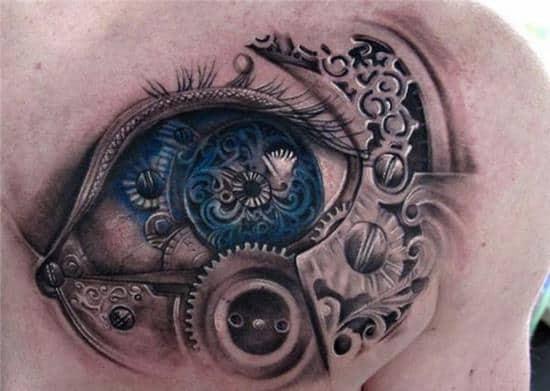 eye steampunk tattoo