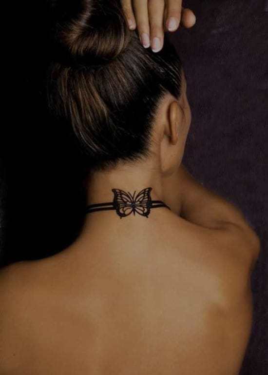 37-Small-Butterfly-Tattoo-on-neck