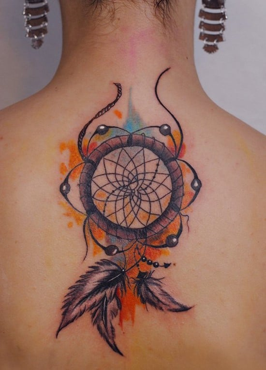 38-Dreamcatcher-watercolor-tattoo