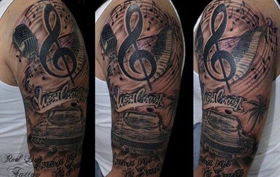 38-WestCoast-Arm-Tattoo