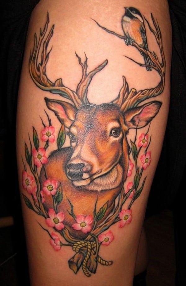 39-coloured-deer-tattoos