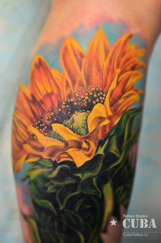 39-sunflower-tattoo