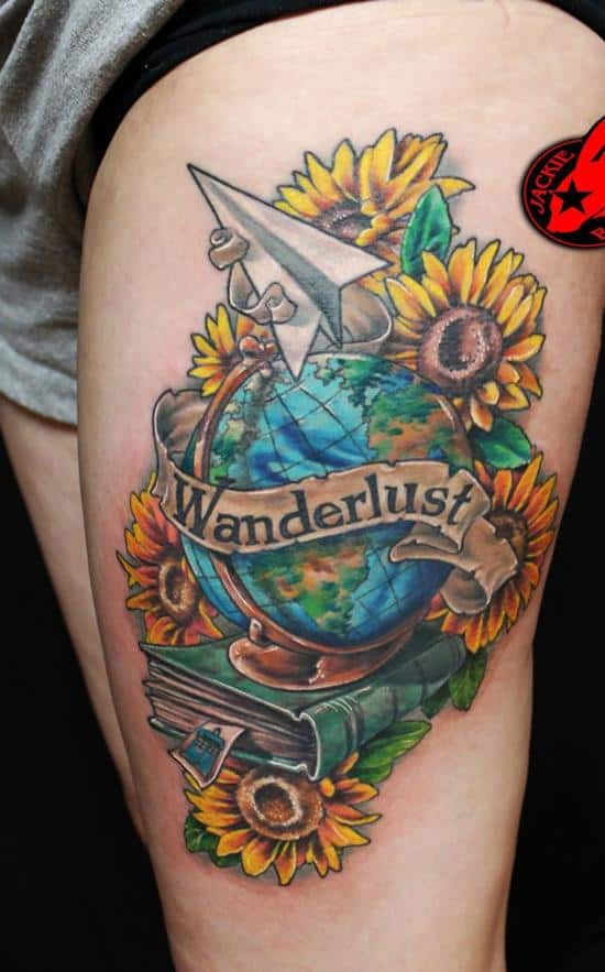 40-Globe-Paper-Plane-Flower-Doctor-Who-Tattoo