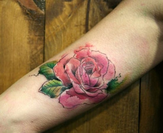 40-Rose-watercolor-tattoo