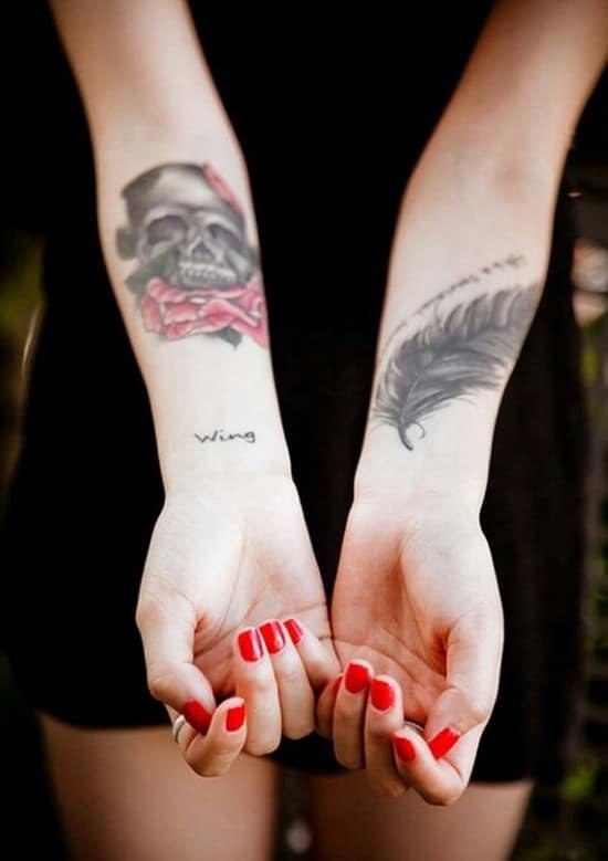 40-Skull-feather-on-wrist