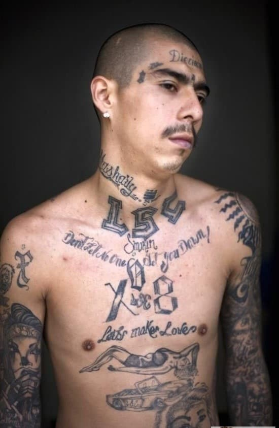 111 Gangster Style Prison Tattoos Meanings October 2019