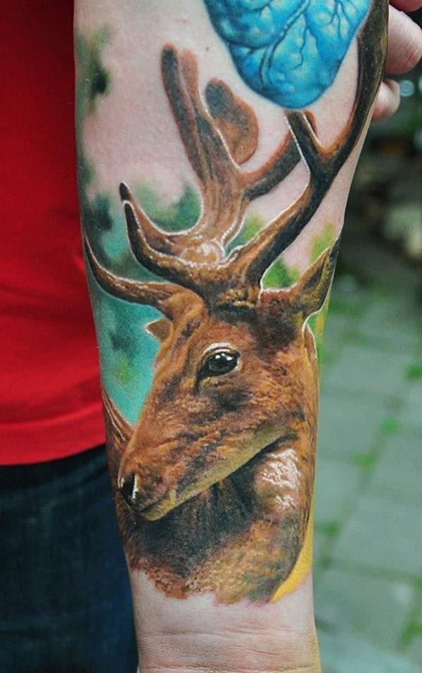 45-Deer-Tattoo