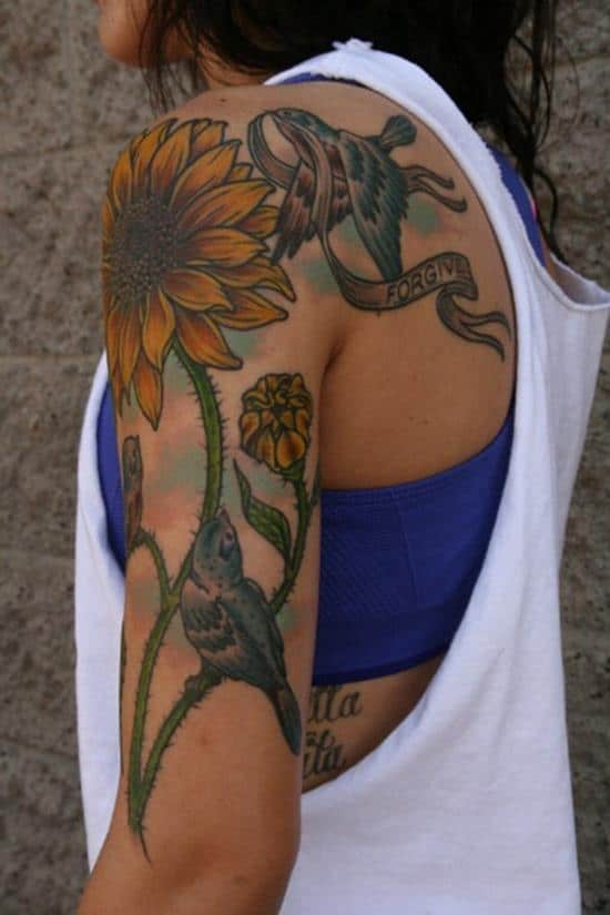 45-sunflower-tattoo