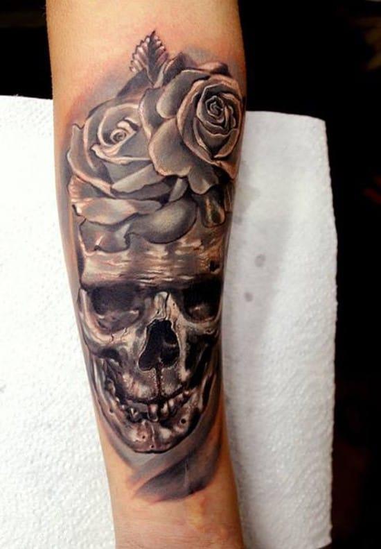50-Skull-Forearm-Tattoo