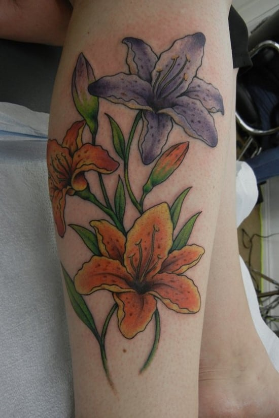 Pretty Colorful Flower Tattoos: 224 Amazing Small Flower Tattoo Ideas (Ultimate Guide
