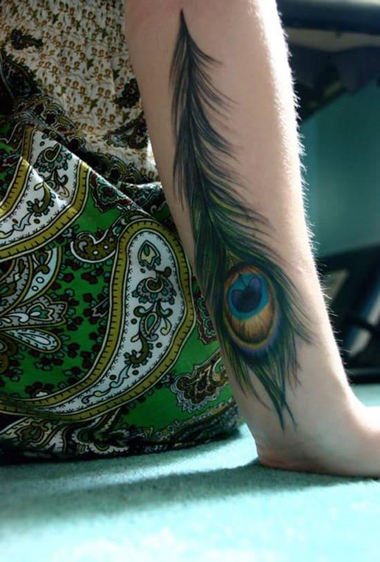 55-Peacock-Feather-Forearm-Tattoo