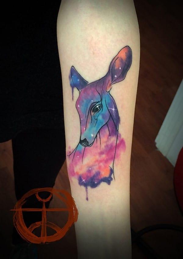 6-Colorful-Deer-Tattoo
