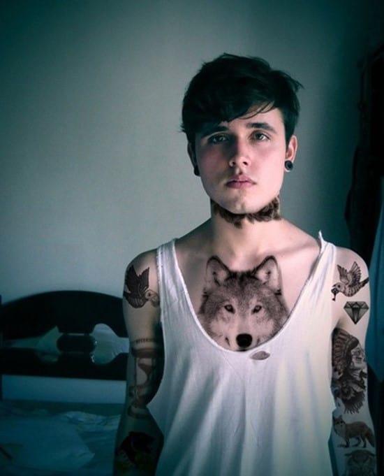 7-Chest-Wolf-Tattoo