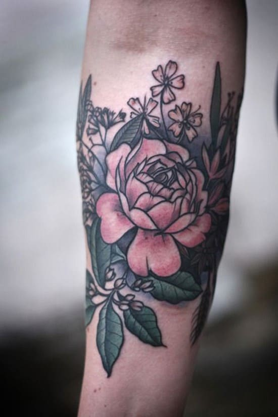 8-Flower-Forearm-Tattoo