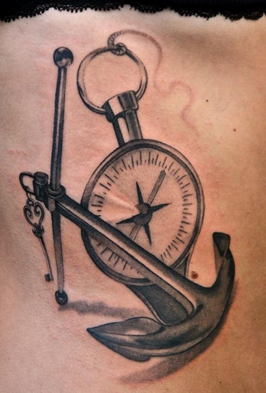 anchor pocket watch