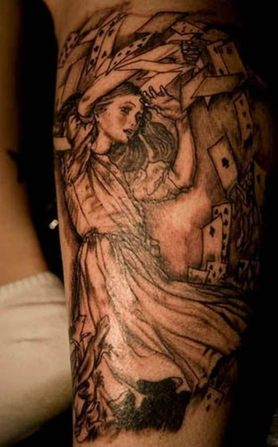 Alice-and-Wonderland-Tattoo-on-the-back