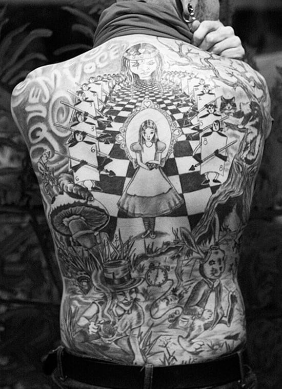 Alice-in-Wonderland-Tattoo-on-the-back