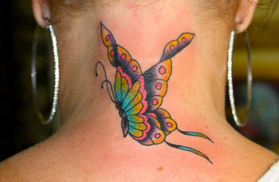 Beautiful-Butterfly-Tattoo-designs-on-neck